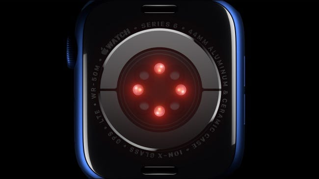 Blood oxygen sensor on Apple Watch Series 6