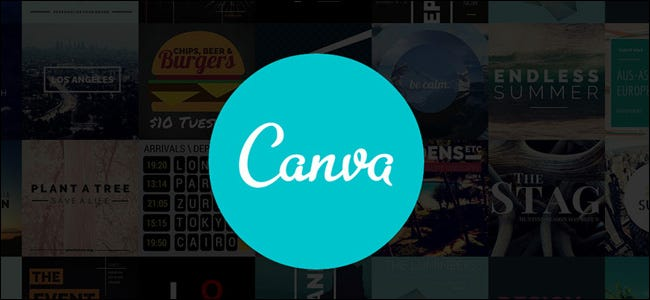 Canva Logo with Images Background