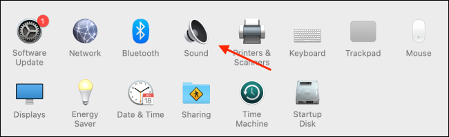 Choose Sound from System Preferences