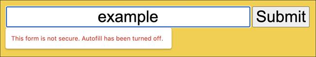 HTTP form warning