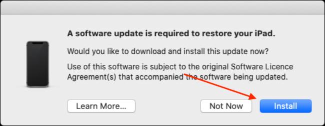 "Click ""Install."""