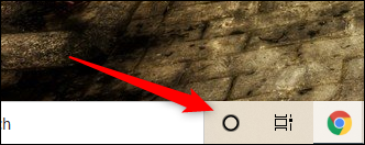 Click theCortana icon.