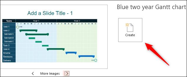 Create Gantt chart