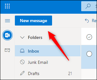 Create a new email button