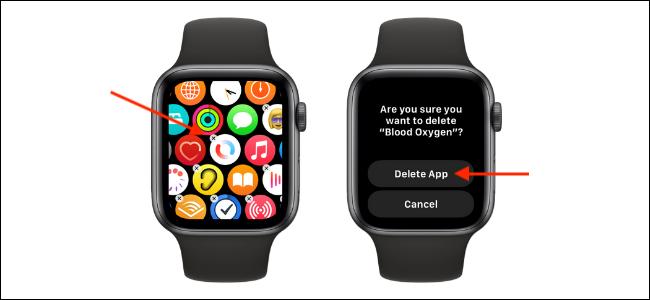 Delete Blood Oxygen App on Apple Watch