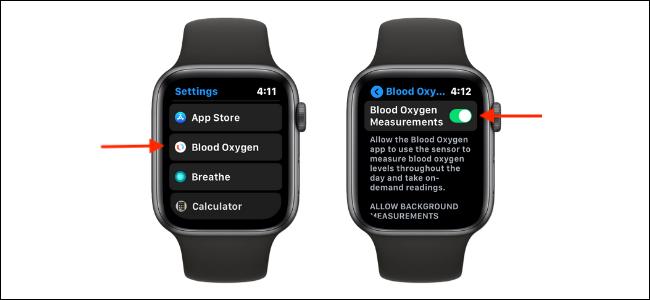 Disable Blood Oxygen Measurements