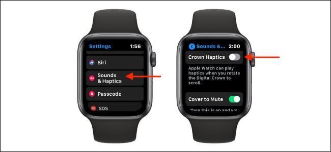 Disable Crown Haptics on Apple Watch