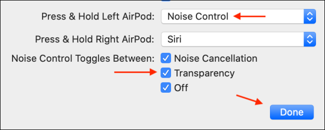 Disable Transparency Mode and Choose Done