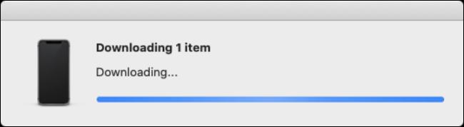 "The ""Downloading"" progress bar."