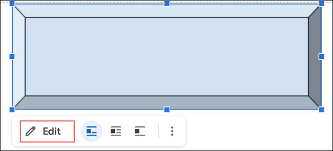 Haga clic en Editar para cambiar un dibujo nuevo en Google Docs
