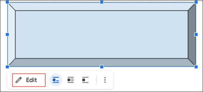 Click Edit to change a New Drawing in Google Docs