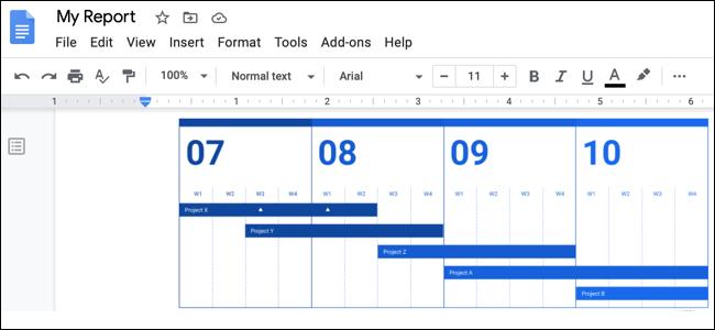 Embed a Google Drawing Google Docs