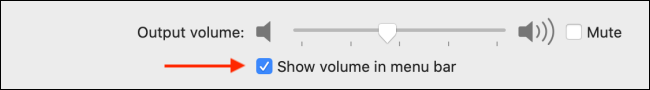 Enable Show Volume in Menu Bar Option
