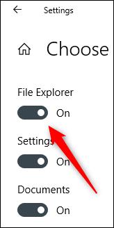 "Toggle-On ""File Explorer."""