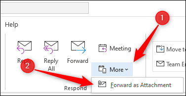 Forward as attachment option in respond group