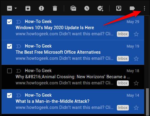 Gmails more icon