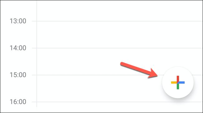 "In the Google Calendar mobile app, tap the ""Add Event"" button in the bottom-right corner."