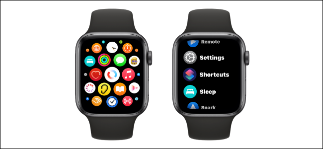 Grid View and List View for Apps on Apple Watch