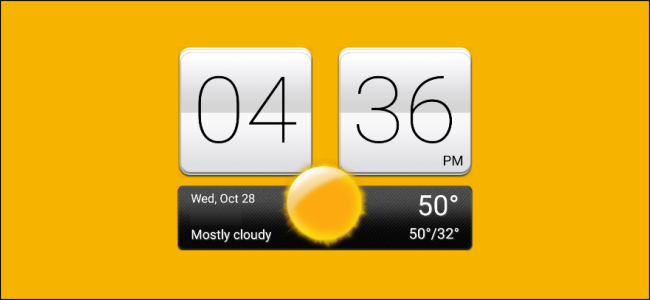 htc clock widget