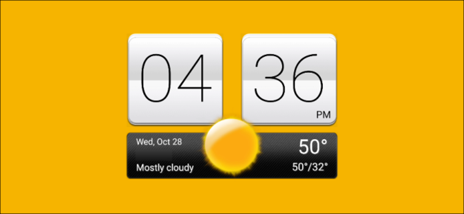 htc clock widget