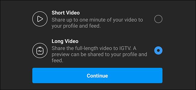 Short Video Long Video Instagram