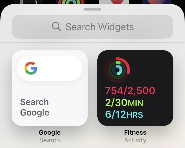 Add Activity Widget to iPhone