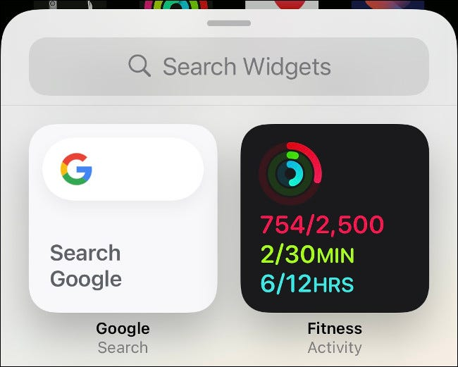 Add Activity Widget to iPhone