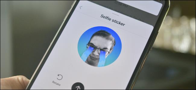 Instagram User Creating Selfie Sticker