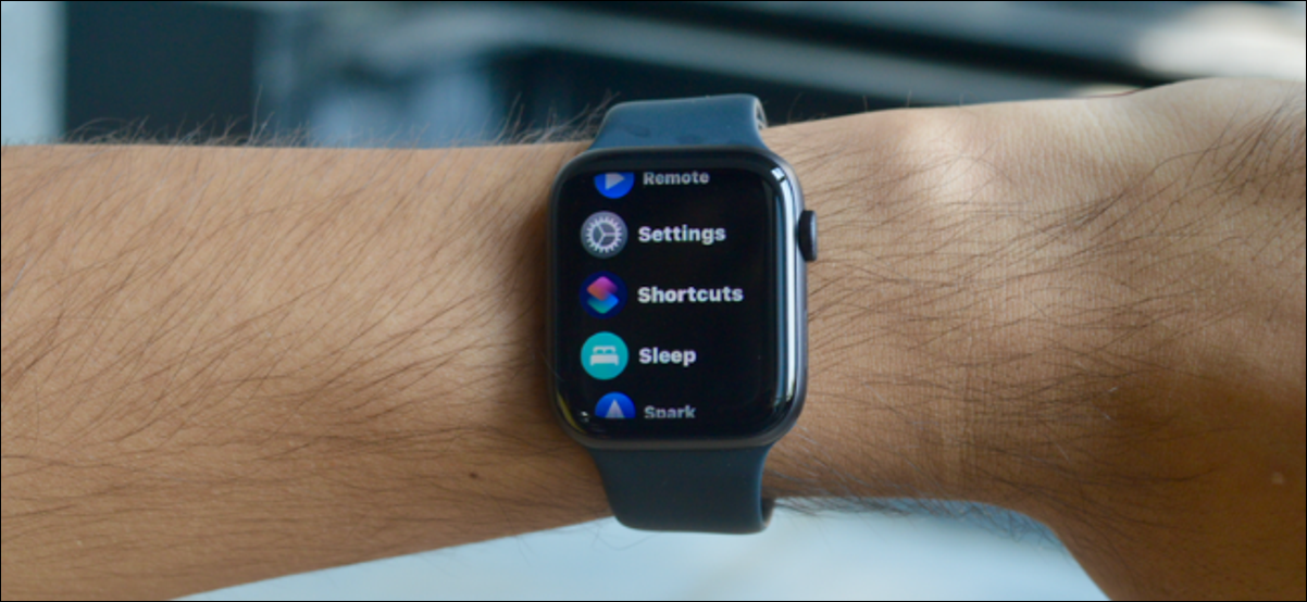 List View for Apple Watch Apps Screen