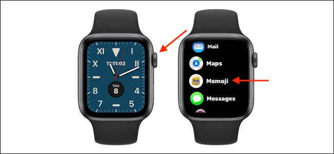 Open Memoji App on Apple Watch