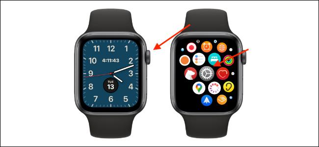 Open Settings app on Apple Watch