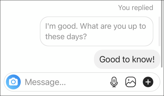 Replied to Specific Message on Instagram