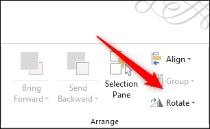 Rotate option in arrange group
