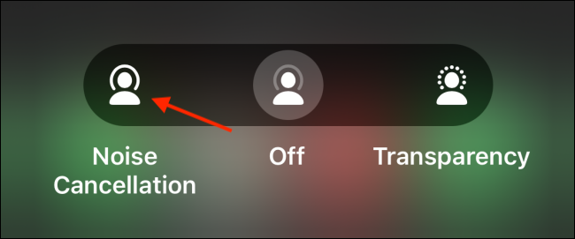 Select Noise Cancellation Mode