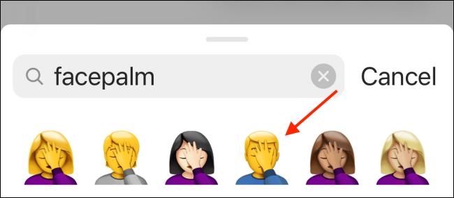 Select the new Emoji