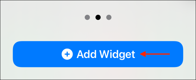 Tap Add Widget for Medium Shortcuts Widget