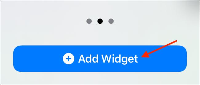 "Toca ""Agregar widget""."