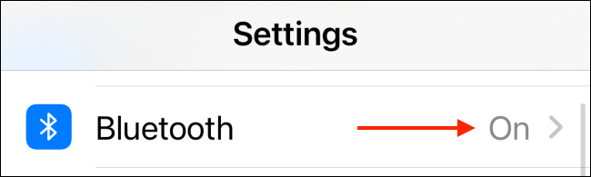 Tap Bluetooth From Settings App