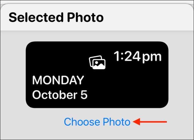 "Tap ""Choose Photo."""