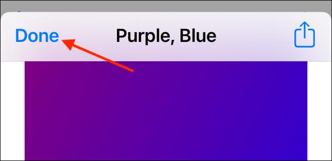 Toque el botón Listo en la vista previa del fondo de pantalla