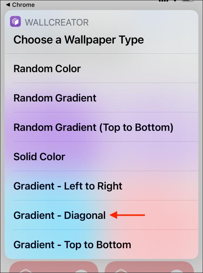 Tap Gradient Diagonal