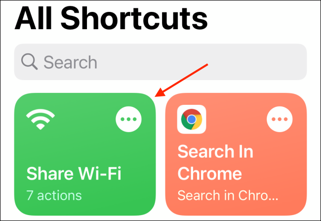 Tap your shortcut.