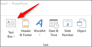 Text box option in powerpoint
