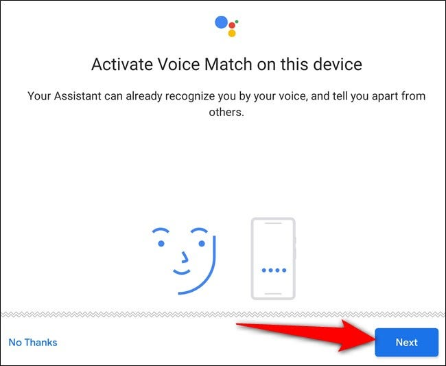 Activate Voice Match