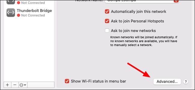 network menu macos