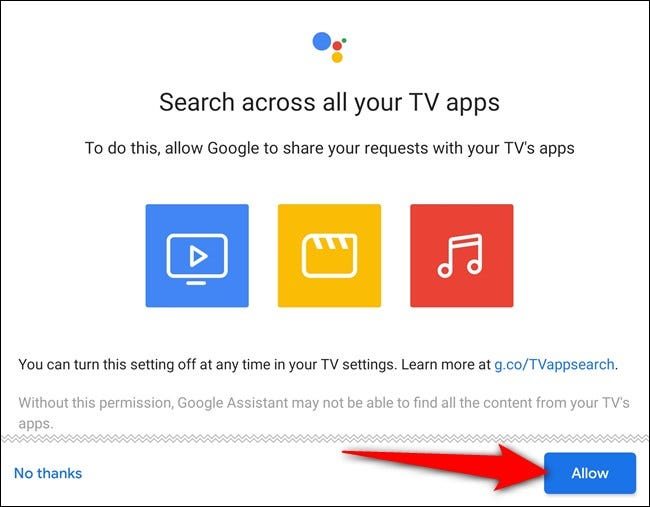 Allow searches across your apps
