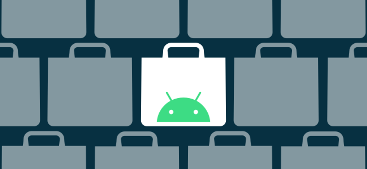 Android app store logos.
