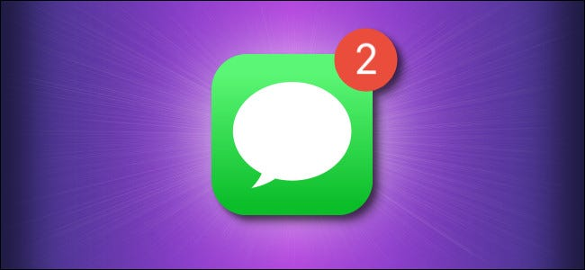 Apple messages icon with notification hero