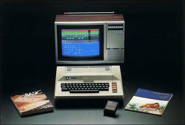 An Atari 800 computer.