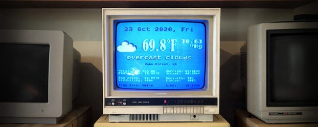 A Vintage Atari Is an Amazing Weather Terminal in 2020